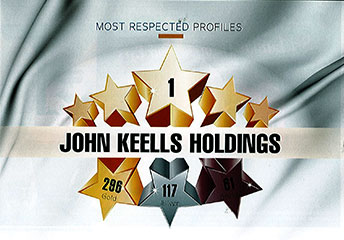 John Keells Holdings PLC ranked no. 1 in LMD's Most Respected Entities Sri Lanka, this year as well.