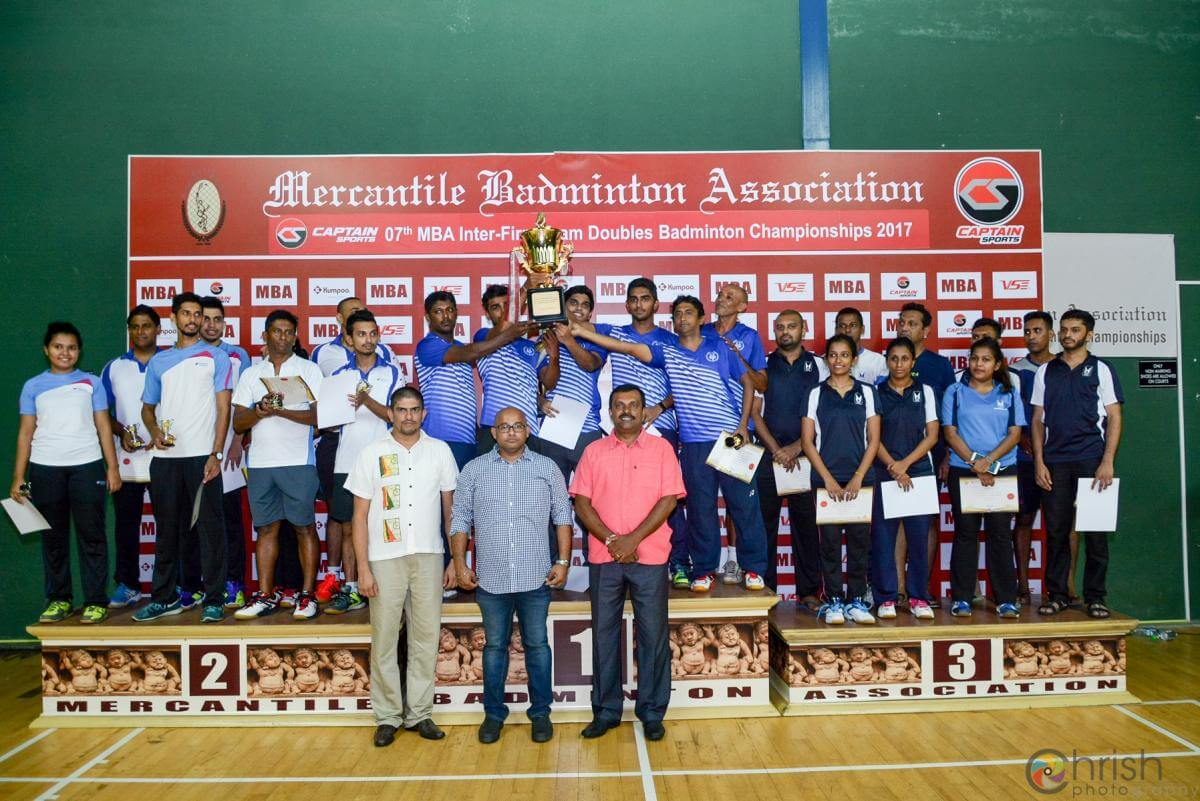Group Shuttlers Shine at the 7th MBA Inter-Firm Team Doubles Badminton Championships 2017